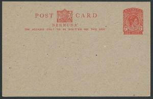 BERMUDA GV 1d postcard fine unused ........................................42408