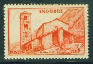 French Andorre Scott 115 MH* stamp