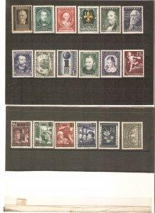 Austria 1951-2 cpl. years, NH