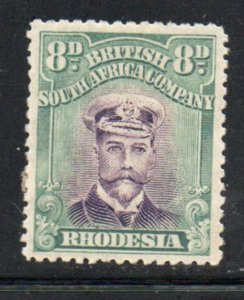 Rhodesia Sc 128 1913 8d gray green & black George V  stamp mint