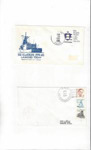US Navy USS Klakring FFG 42, 2 Covers, Launch