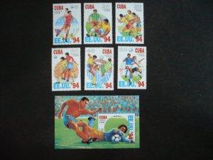 Stamps - Cuba - Scott# 3545-3551 - MNH Set of 6 stamps and 1 Souvenir Sheet