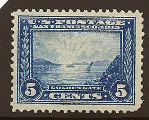 399 MNH,  5c. Panama-Pacific,  scv: $160