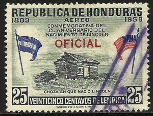 Honduras Official Air Mail 1959 Scott# CO105 Used