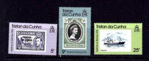 Tristan da Cunha 206-08 MNH 1976 Festival of Stamps