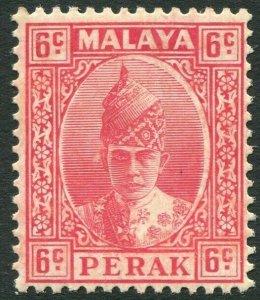 PERAK-1939 6c Scarlet Sg 109 MOUNTED MINT V42832