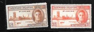 Leeward Islands #116-117  Peace ( MNH) CV $0.50