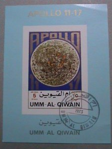 UMM AL QIWAIN AIRMAIL STAMP: 1973   SPACE SHIP APOLLO 11-17 CTO MNH S/S #1
