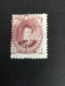 Newfoundland 2016 Sc. #32A Mint VG-No G H - 1871 1c Brown Lilac Albert Cat. $115