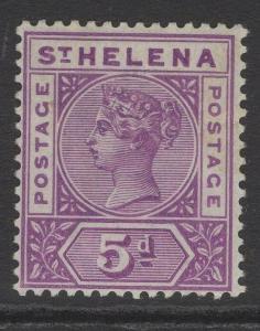 ST.HELENA SG51 1896 5d MAUVE MTD MINT