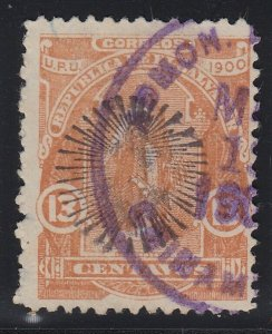 El Salvador 1900 13c Yellow Brown Used. Scott 268