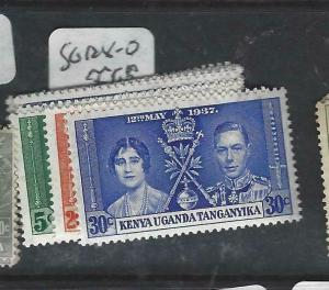 KENYA, UGANDA, TANGANYIKA    (P3105B)  KGVI CORONATION SG 128-0   MNH