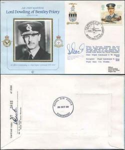 CDM7 RAF COMMANDERS Lord Dowding Signed WING Commander D Boak Biggin Hill (O)