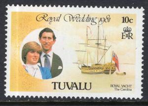 Tuvalu 157 Royal Wedding Ship MNH VF