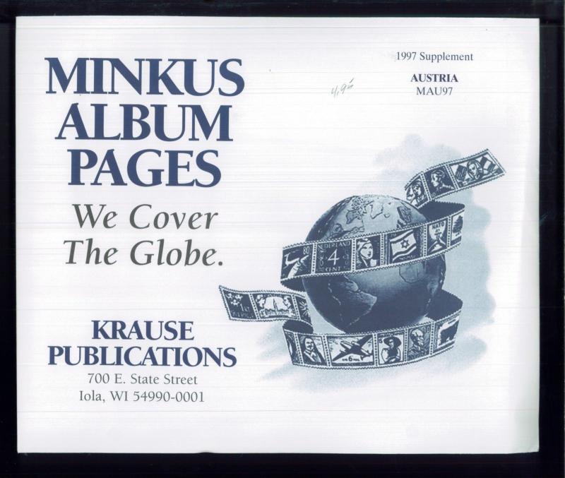 1997 Australia Minkus Stamp Album Supplement Pages #MAU97