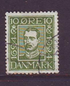 Denmark Sc  167 1924 10 o Christian X stamp used