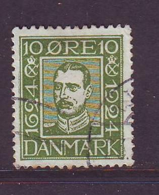 Denmark Sc  167 1924 10 o Christian X stamp used