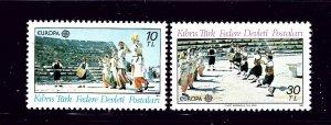 Turkish Republic of Northern Cyprus 98-99 MNH 1981 Europa      (P91)