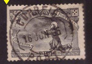 Portugal Scott 132 Used  stamp scissor cut perfs at left