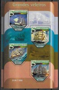 St. Thomas & Prince Islands MNH S/S Grand Sailing Ships