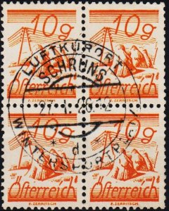 Austria.1925 10g(Block of 4) S.G.576 Fine Used