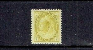 CANADA - 1898 - SEVEN CENT QUEEN VICTORIA NUMERAL - SCOTT 81 - MH