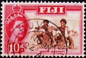 Fiji. 1954 10d S.G.316 Fine Used