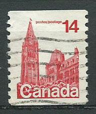 Canada SG 874c  coil stamp  Used perf 10