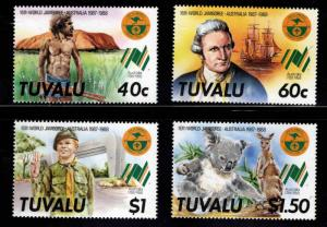 TUVALU Scott 460-463 MNH** Scout Jamboree  set 1987