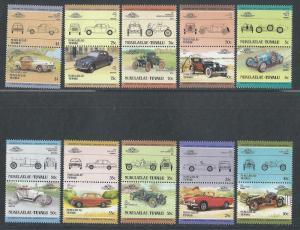 Tuvalu Nukulaelae MNH 25-34 Pairs Automobiles 1985