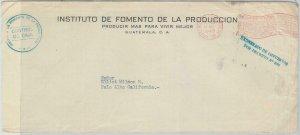79097 - GUATEMALA -  POSTAL HISTORY - PROPAGANDA Postmark on COVER 1949