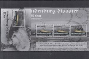 MICRONESIA 2 SHEETS ZEPPELINS DISASTER HINDENBURG AVIATION