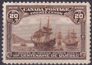 Canada #103  Unused CV $250.00 (Z3603)