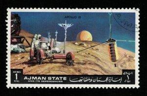 Space 1972 Airmail - Apollo - 15,  Ajman 1Riyl (TS-561)