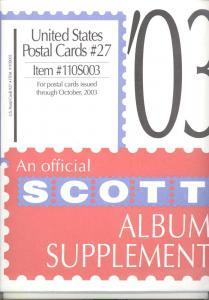 U. S. Postal Cards Supplement # 27