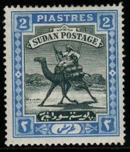 SUDAN SG15 1898 2p BLACK & BLUE MTD MINT