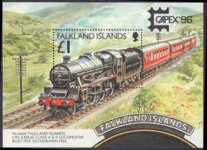 1996 Falkland Islands #658-662, Complete Set(5), Never Hinged