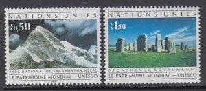 UN Geneva 211-212 UNESCO MNH VF