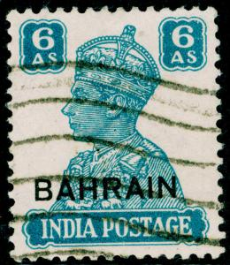BAHRAIN SG48, 6a turquoise-green, USED. Cat £12.