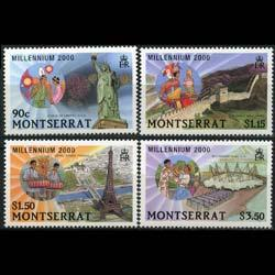 MONTSERRAT 2000 - Scott# 1008-11 Millennium Set of 4 NH