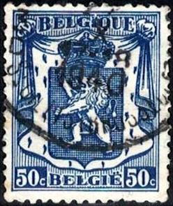 Coat of Arms, Belgium stamp SC#275 used