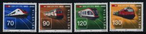 Switzerland 1116-9 MNH Swiss Railways, Trains, Locomotives