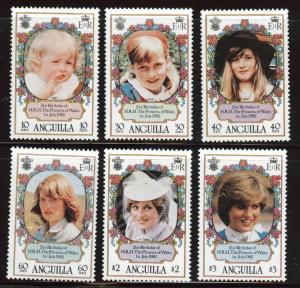 ANGUILLA Scott 453-461 MNH** Princess Di set CV$12