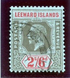 Leeward Islands 1923 KGV 2s6d black & red/blue very fine used. SG 75. Sc 78.