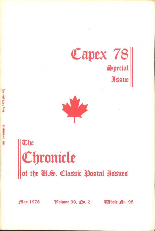The Chronicle of the U.S. Classic Issues, Chronicle No. 98