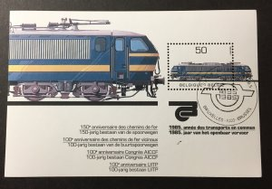 Belgium 1985 #1198 S/S, Used/First day cancel(see note), CV $4