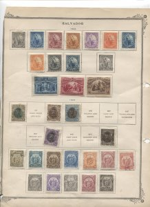STAMP STATION PERTH- El Salvador #65 Used / Mint  Stamps on Pages - Unchecked