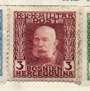 Bosnia Herzegovina 1912 Early Issue Fine Mint Hinged 3h. NW-113578