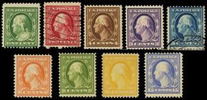 374-82, Mint/Used Set of 9 Stamps Cat $625.00 - Stuart Katz