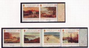 Isle of Man Sc 1063-8 2004 Cooper Watercolours stamps mint NH
